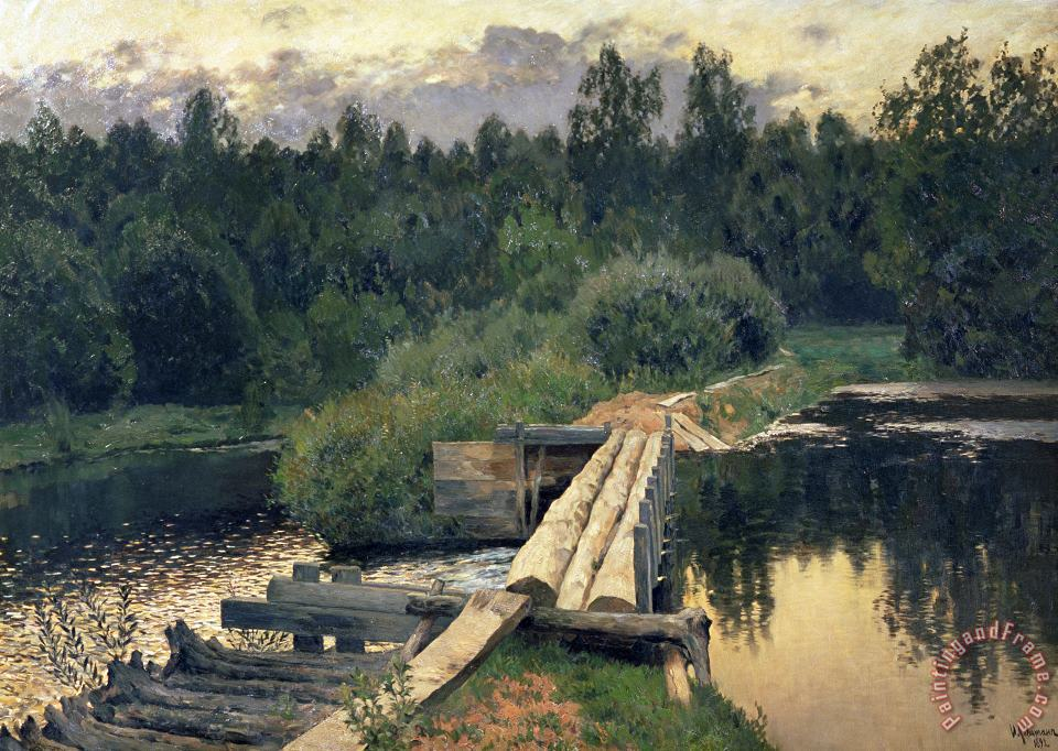 Isaak Ilyich Levitan At The Shallow Art Painting