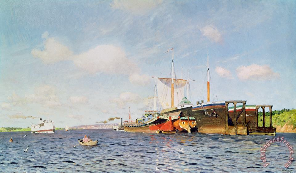 Fresh Wind On The Volga painting - Isaak Ilyich Levitan Fresh Wind On The Volga Art Print