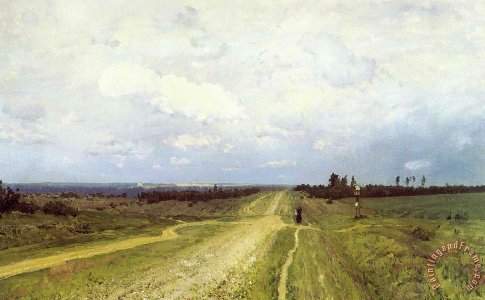 The Vladimirka Road painting - Isaak Ilyich Levitan The Vladimirka Road Art Print