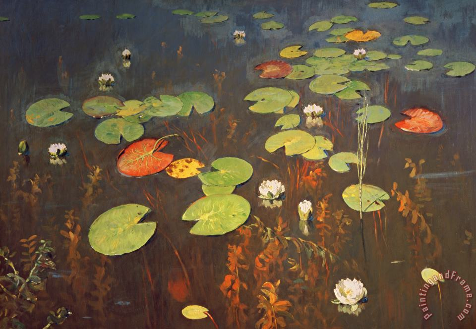 Water Lilies painting - Isaak Ilyich Levitan Water Lilies Art Print