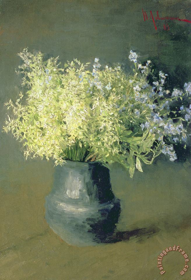 Wild Lilacs And Forget Me Nots painting - Isaak Ilyich Levitan Wild Lilacs And Forget Me Nots Art Print