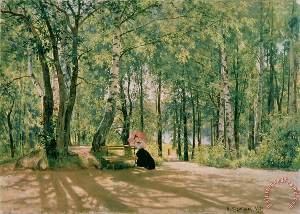 At the Summer Cottage painting - Ivan Ivanovich Shishkin At the Summer Cottage Art Print