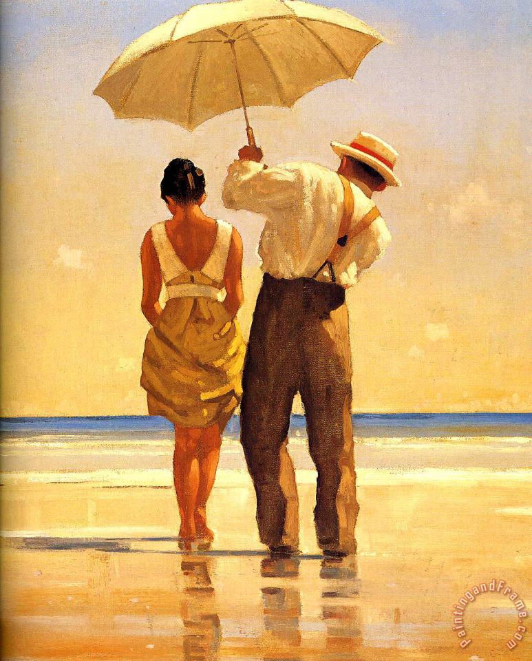 Mad Dogs Detail painting - Jack Vettriano Mad Dogs Detail Art Print