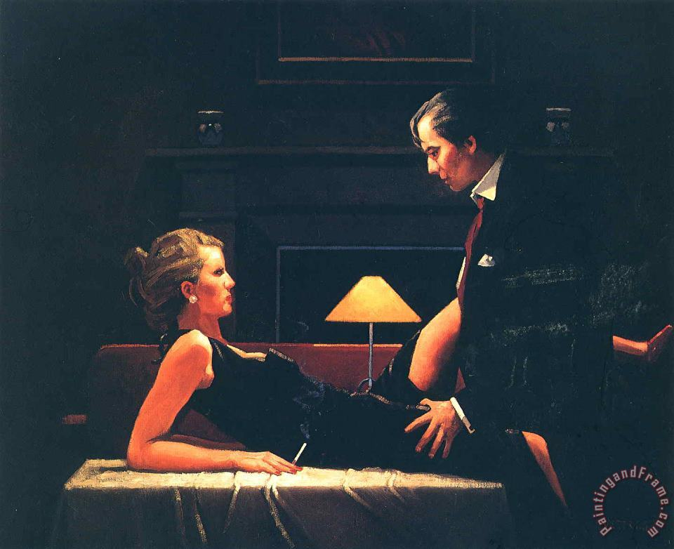 Jack Vettriano Passion Overflow Art Painting