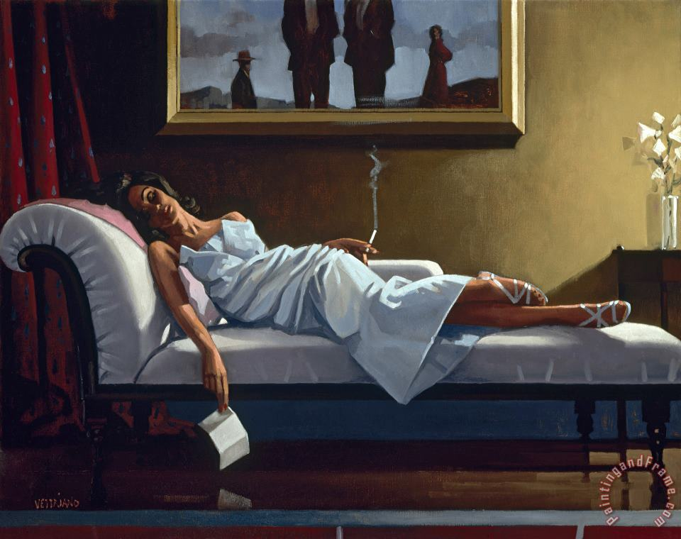 Jack Vettriano The Letter Art Painting