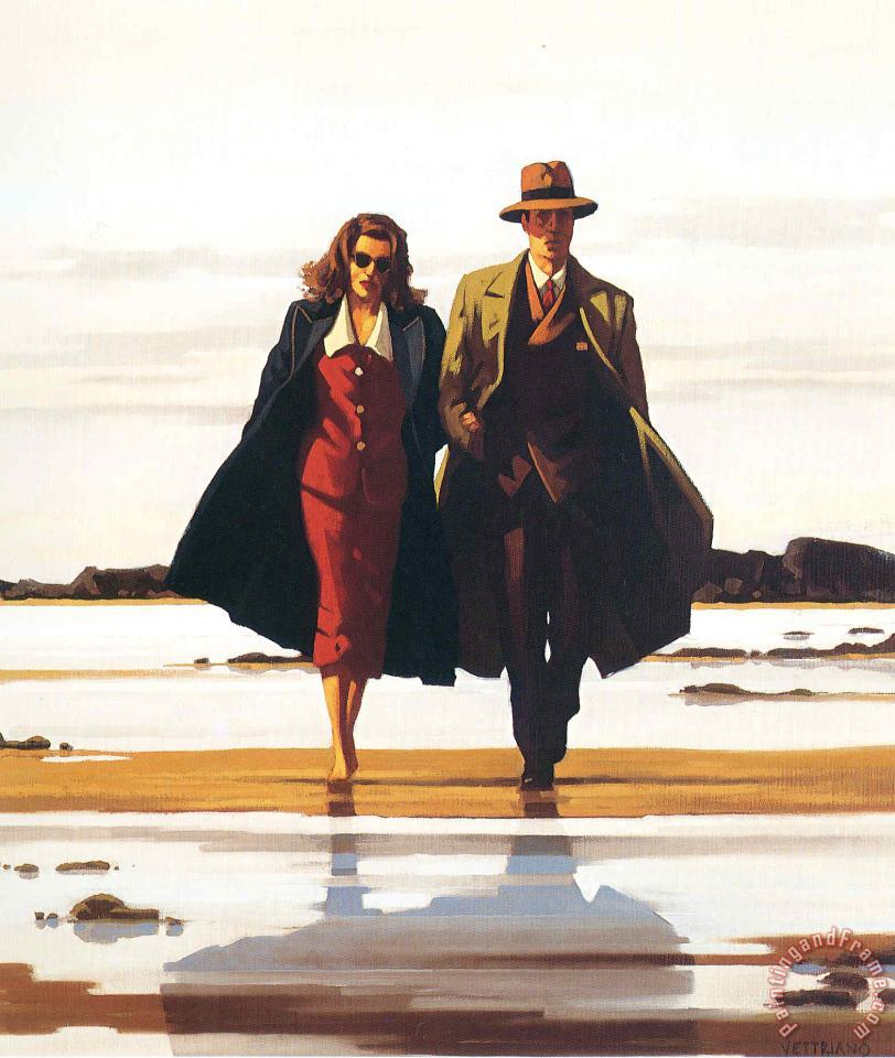 The Road to Nowhere painting - Jack Vettriano The Road to Nowhere Art Print