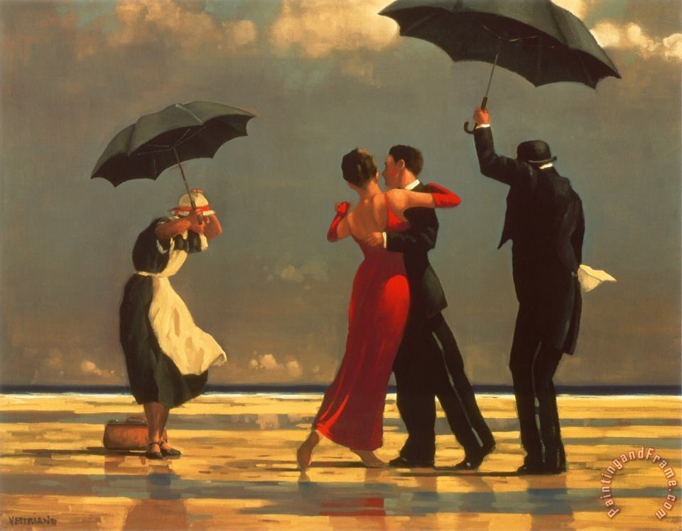 The Singing Butler painting - Jack Vettriano The Singing Butler Art Print