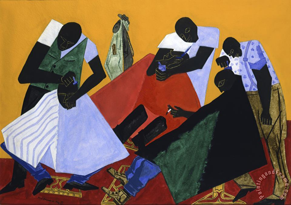 Jacob Lawrence Barber Shop Art Print