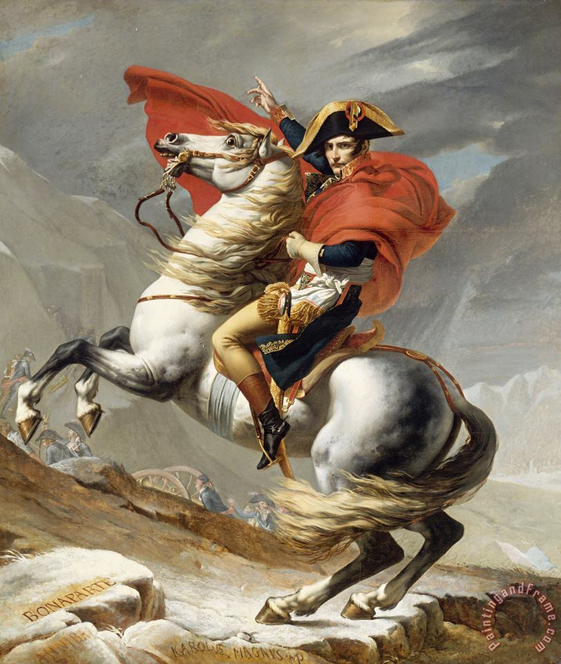 Jacques Louis David Bonaparte Crossing The Grand Saint-bernard Pass Art Painting