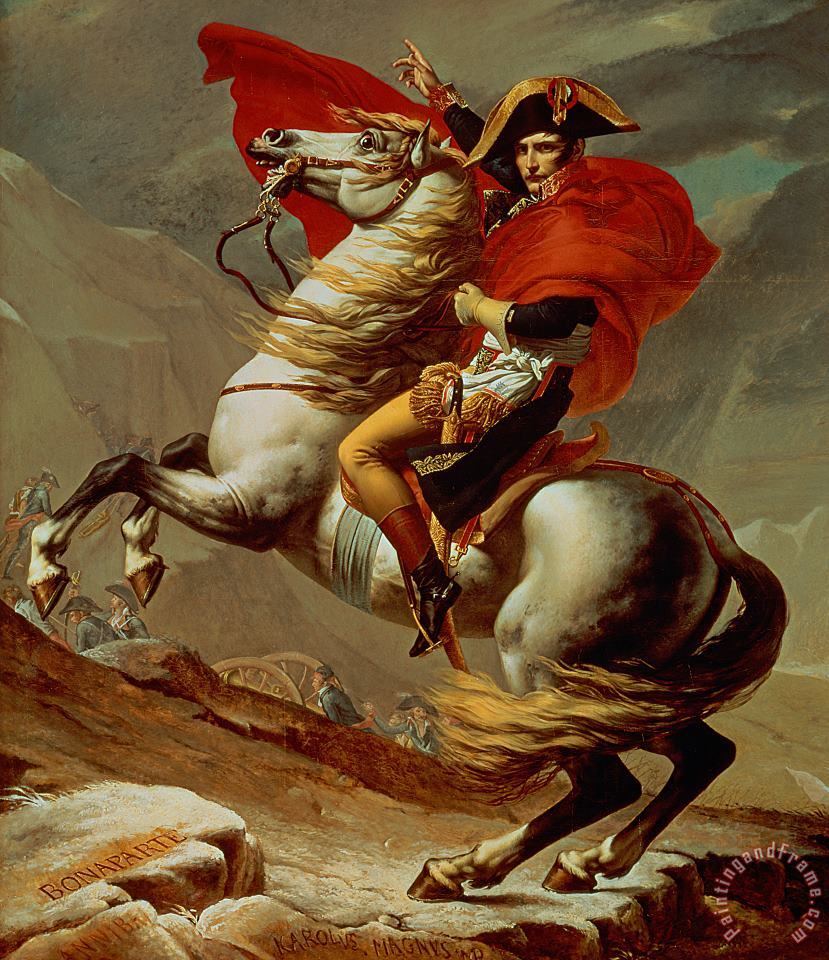 Napoleon Crossing the Alps painting - Jacques Louis David Napoleon Crossing the Alps Art Print