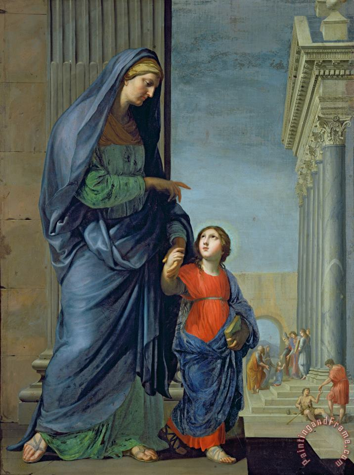 Saint Anne Leading the Virgin to the Temple painting - Jacques Stella Saint Anne Leading the Virgin to the Temple Art Print