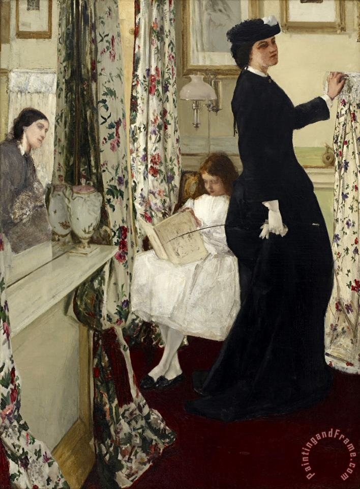 James Abbott McNeill Whistler Harmony in Green And Rose The Music Room Art Print