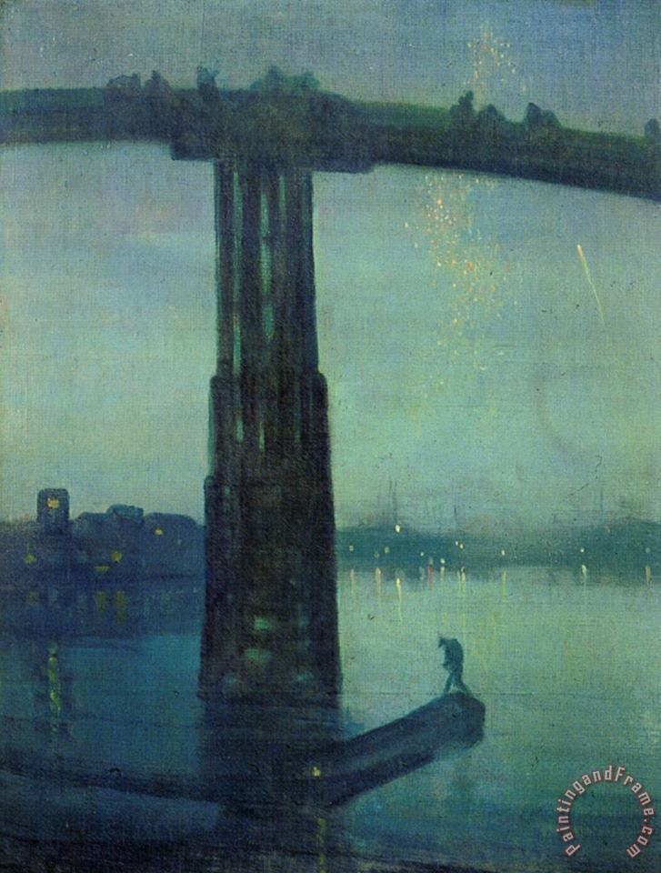 Nocturne in Blue And Green painting - James Abbott McNeill Whistler Nocturne in Blue And Green Art Print
