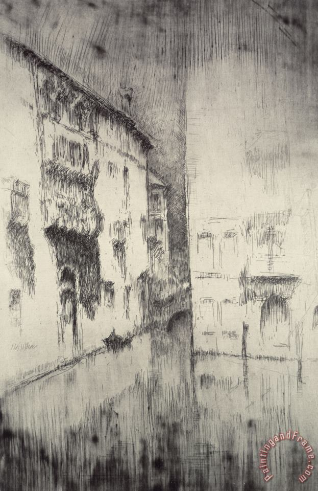 James Abbott McNeill Whistler Nocturne Palaces Art Print