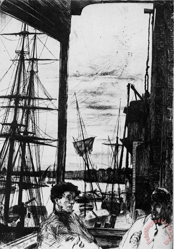 James Abbott McNeill Whistler Rotherhithe Art Print