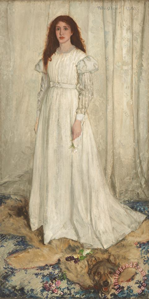 Symphony In White No 1 The White Girl painting - James Abbott McNeill Whistler Symphony In White No 1 The White Girl Art Print