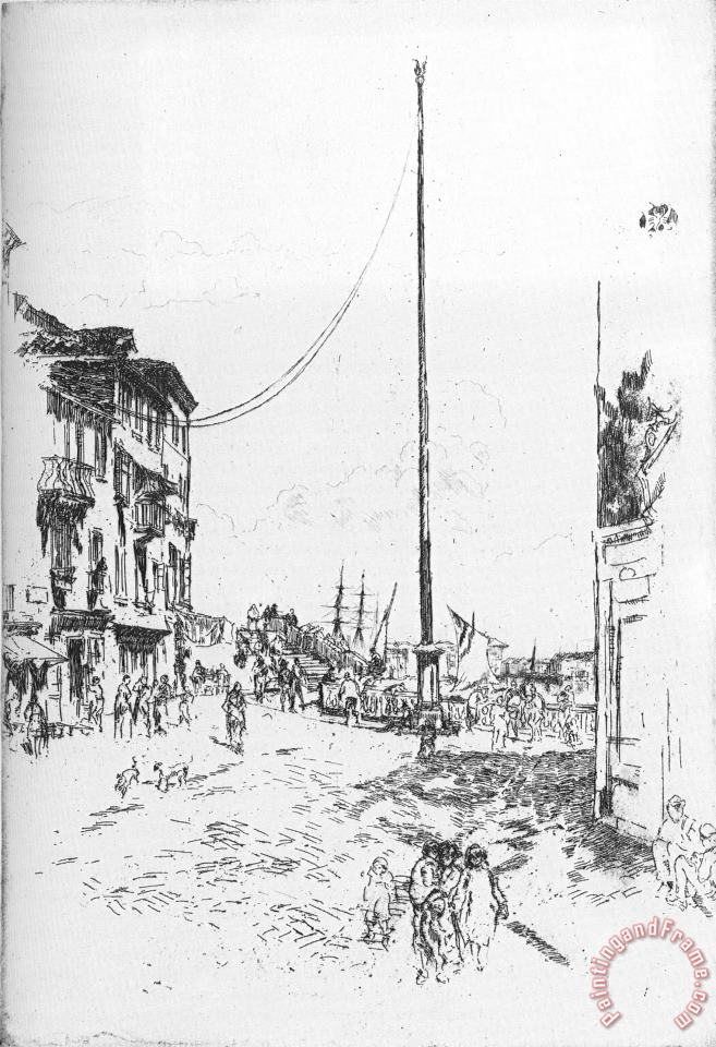 The Little Mast painting - James Abbott McNeill Whistler The Little Mast Art Print