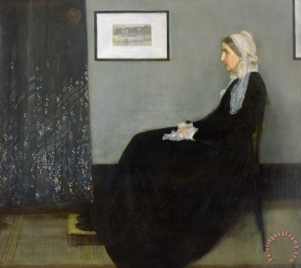 Whistlers Mother painting - James Abbott McNeill Whistler Whistlers Mother Art Print