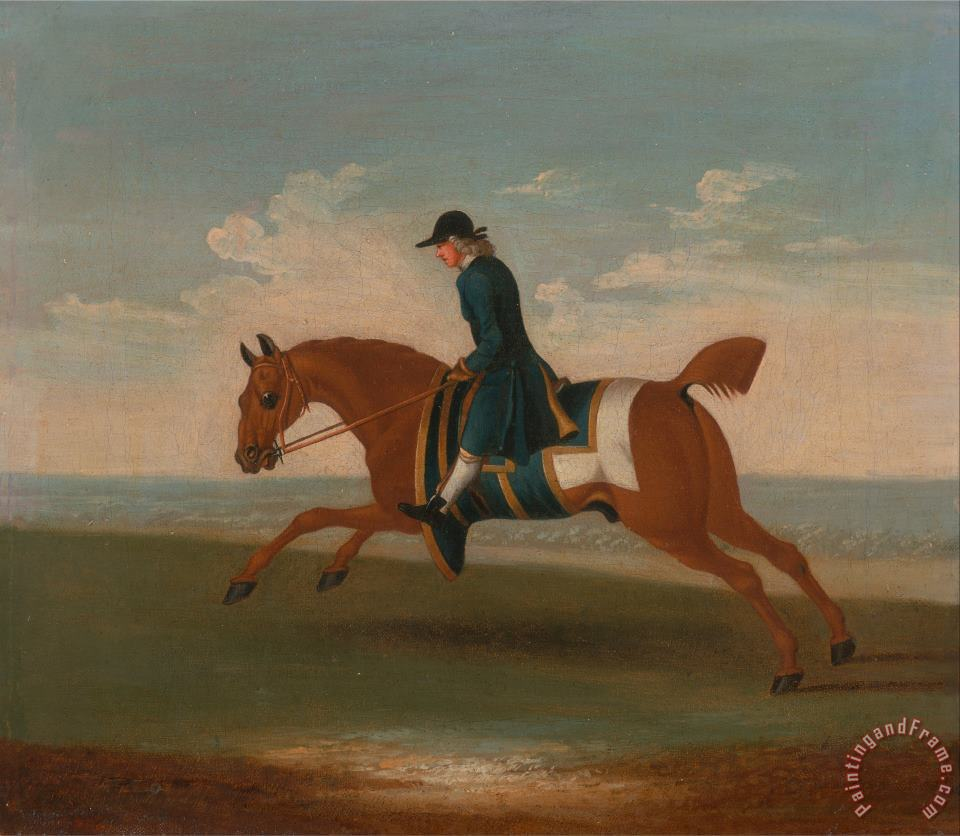 James Seymour One of Four Portraits of Horses Art Print
