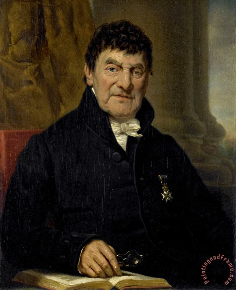 Jan Adam Kruseman Portrait of Dr. Cornelis Hendrik a Roy, Physician And Biographer Art Painting