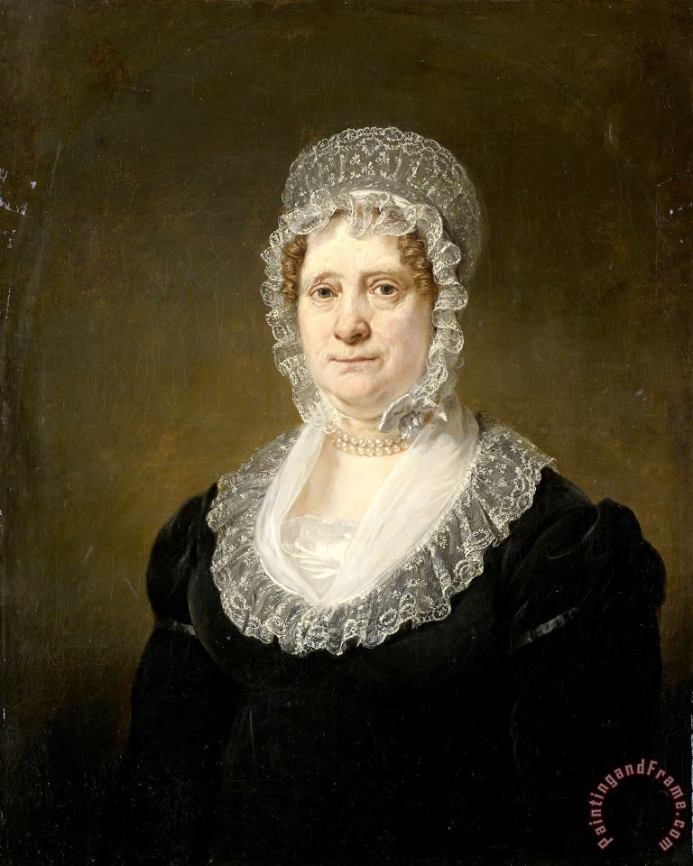 Jan Willem Pieneman Portrait of Sara De Haan, Widow of The Amsterdam Underwriter Cornelis Hartsen Art Painting