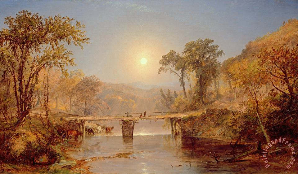Indian Summer on the Delaware River painting - Jasper Francis Cropsey Indian Summer on the Delaware River Art Print