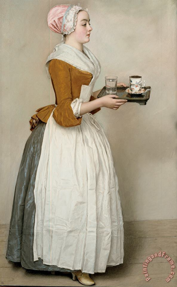 The Chocolate Girl painting - Jean-Etienne Liotard The Chocolate Girl Art Print