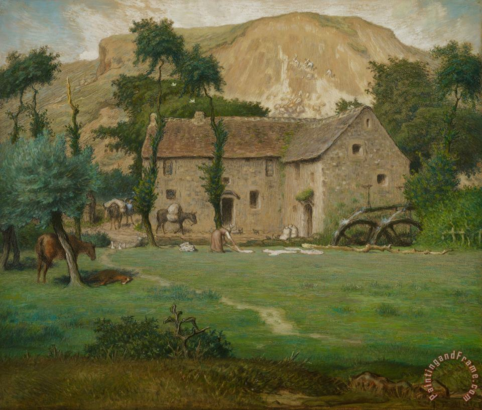 Jean-Francois Millet The Farm House Art Painting