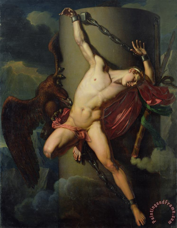 The Torture of Prometheus painting - Jean-Louis-Cesar Lair The Torture of Prometheus Art Print