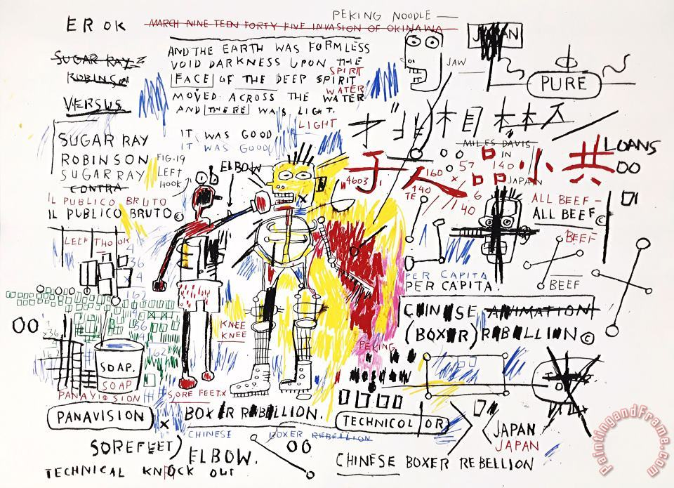 Jean-michel Basquiat Boxer Rebellion Art Print