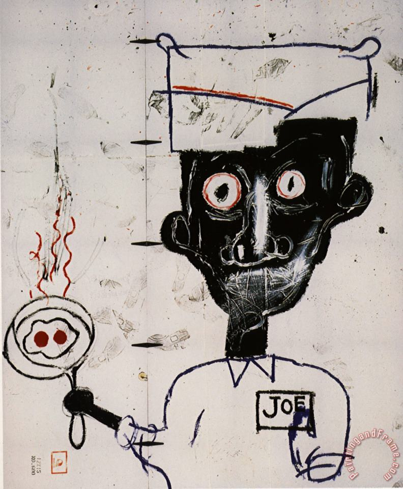 Jean-michel Basquiat Eyes And Eggs Art Print