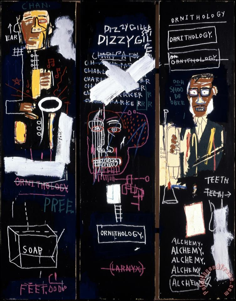 Horn Players painting - Jean-michel Basquiat Horn Players Art Print