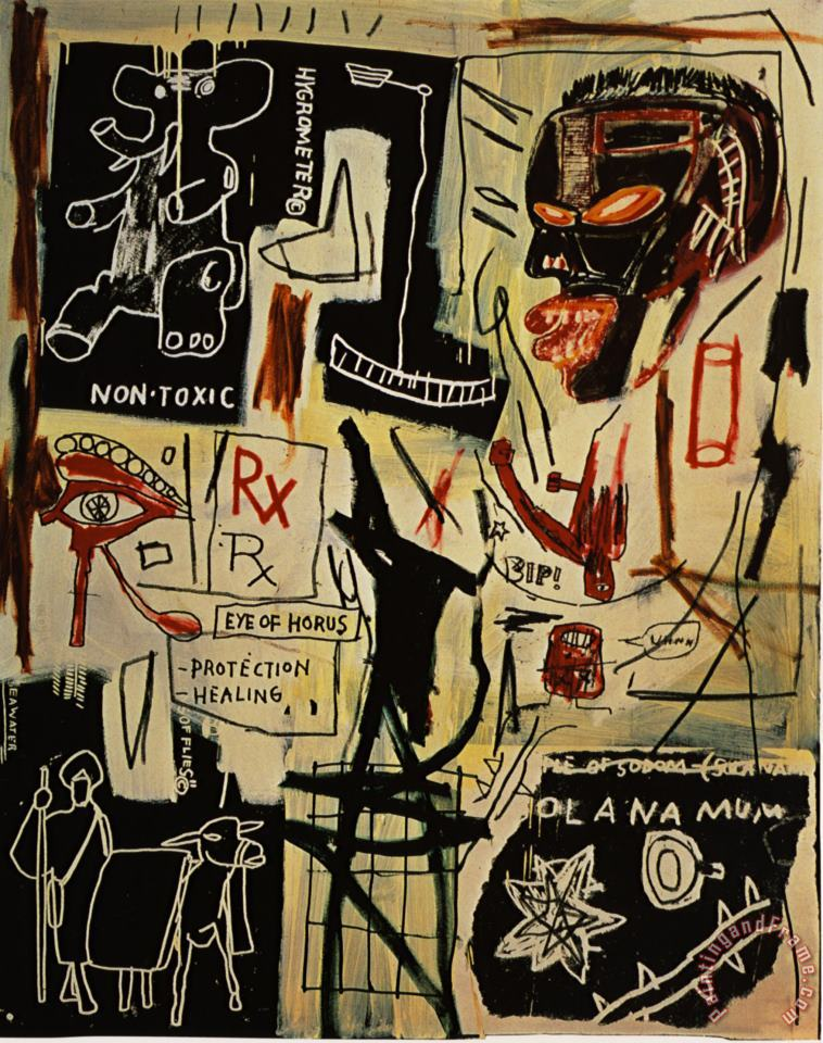 Melting Point of Ice painting - Jean-michel Basquiat Melting Point of Ice Art Print