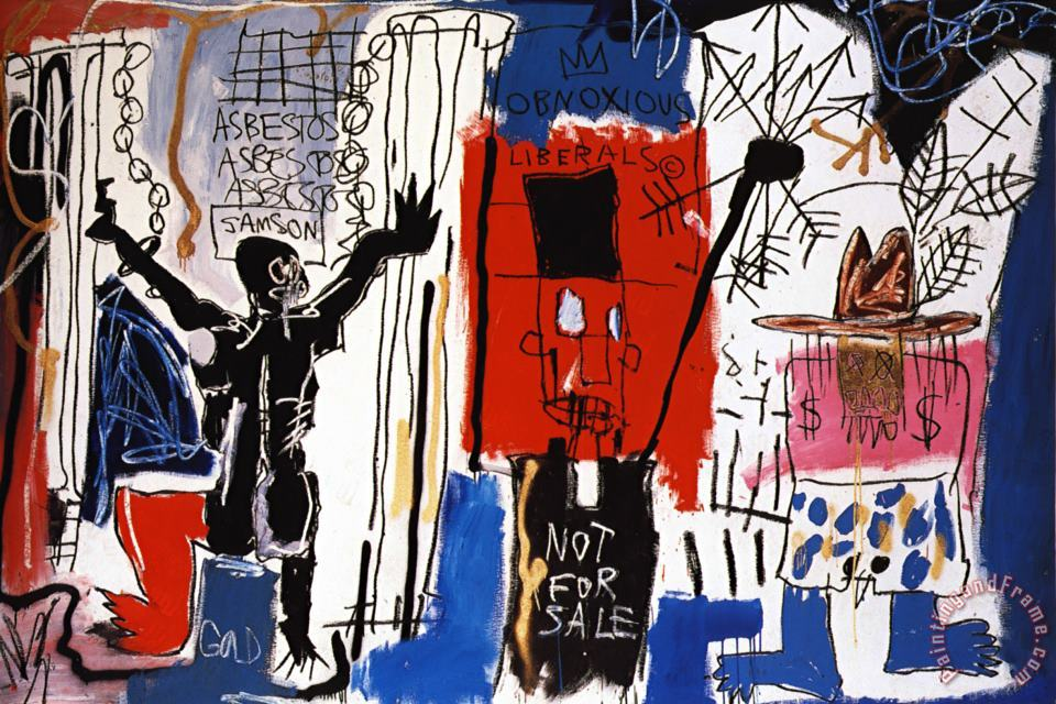 Obnoxious Liberals painting - Jean-michel Basquiat Obnoxious Liberals Art Print