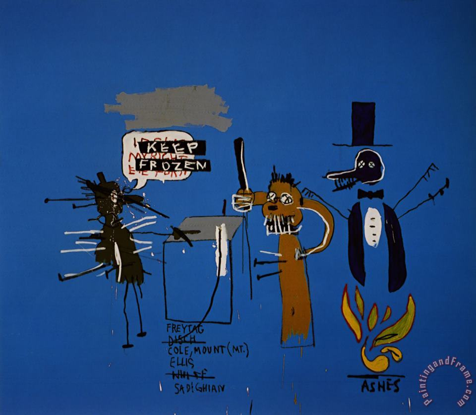 The Dingoes That Park Their Brains with Their Gum painting - Jean-michel Basquiat The Dingoes That Park Their Brains with Their Gum Art Print