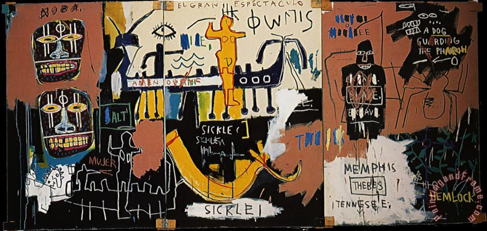 The Nile painting - Jean-michel Basquiat The Nile Art Print