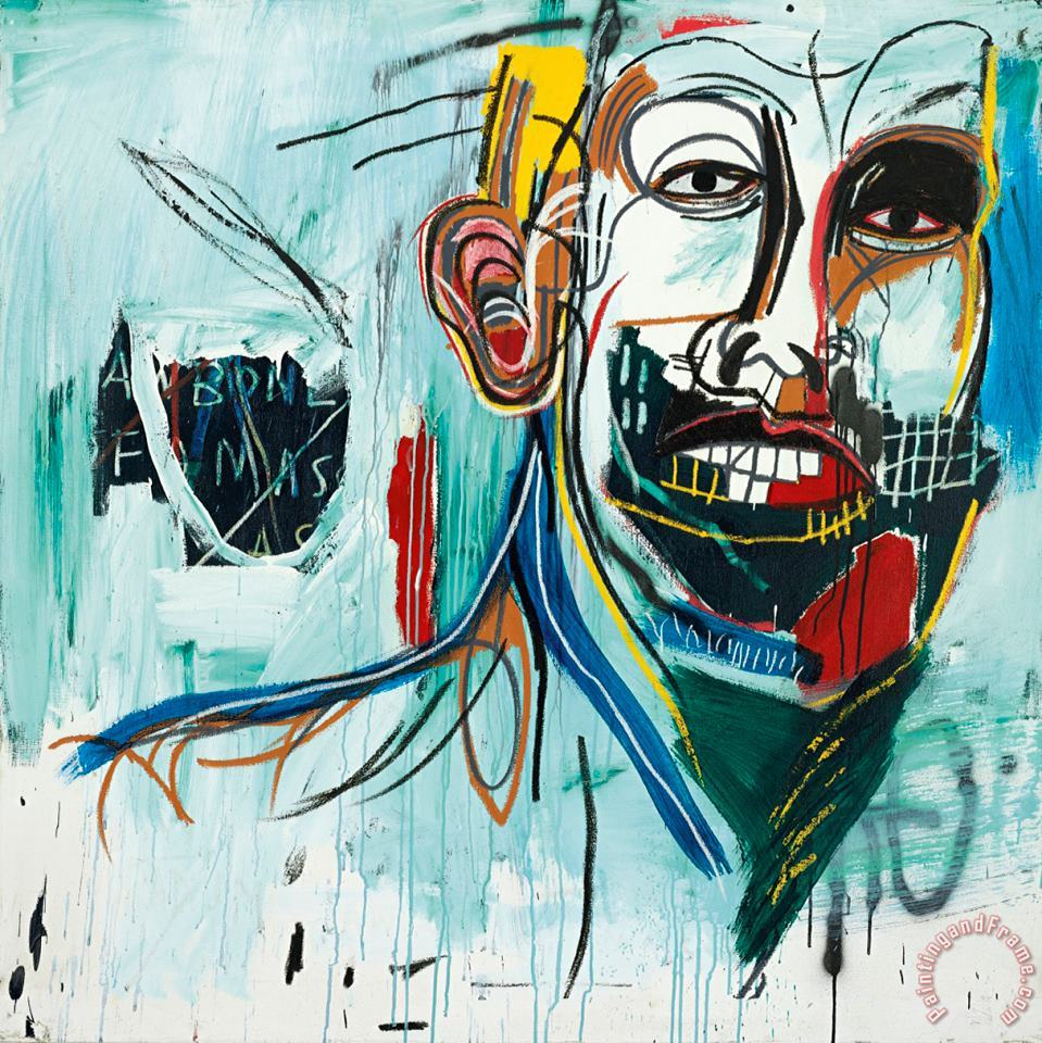 Untitled painting - Jean-michel Basquiat Untitled Art Print