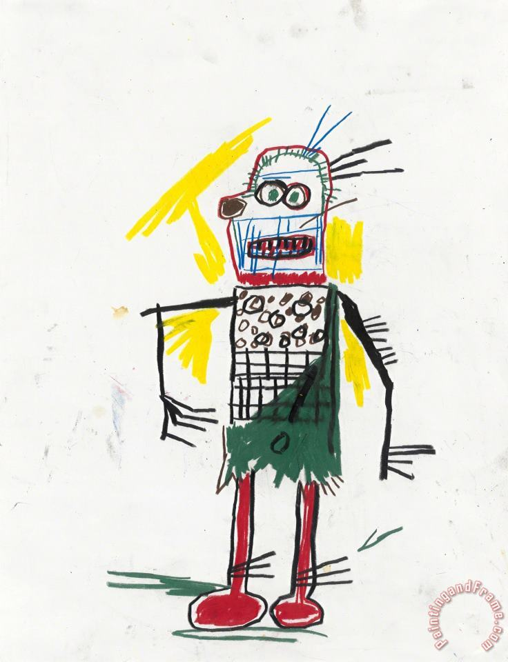 Untitled, 1981 painting - Jean-michel Basquiat Untitled, 1981 Art Print
