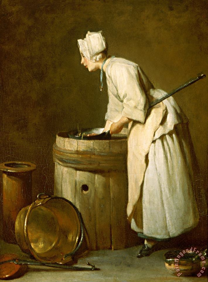 Jean-simeon Chardin The Scullery Maid Art Painting