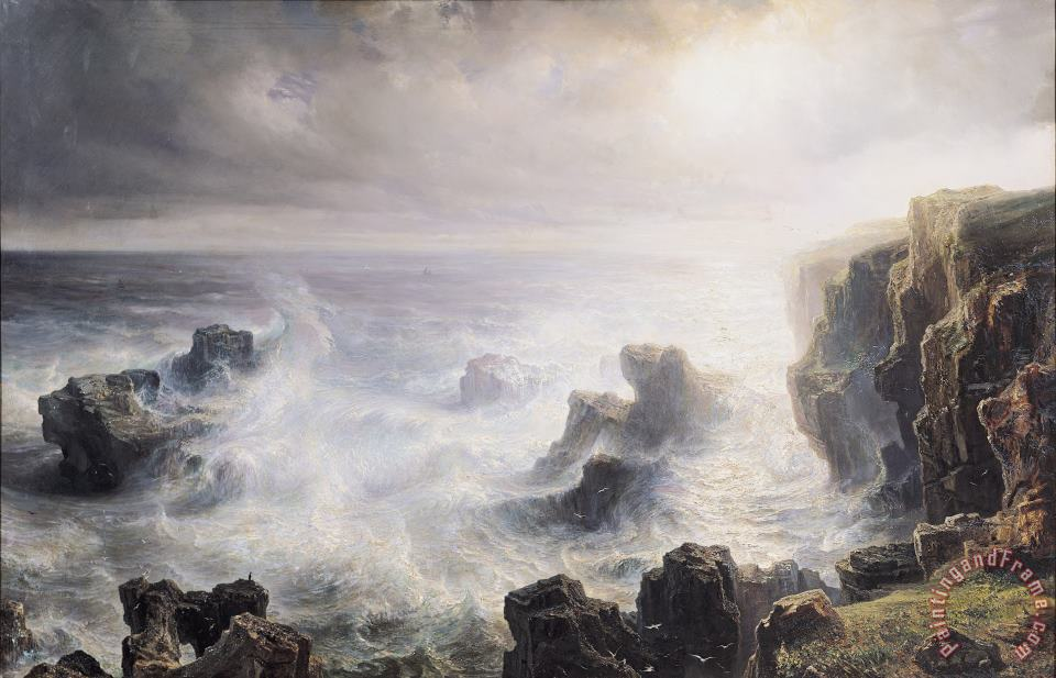Jean Antoine Theodore Gudin Storm off the Coast of Belle Ile Art Painting