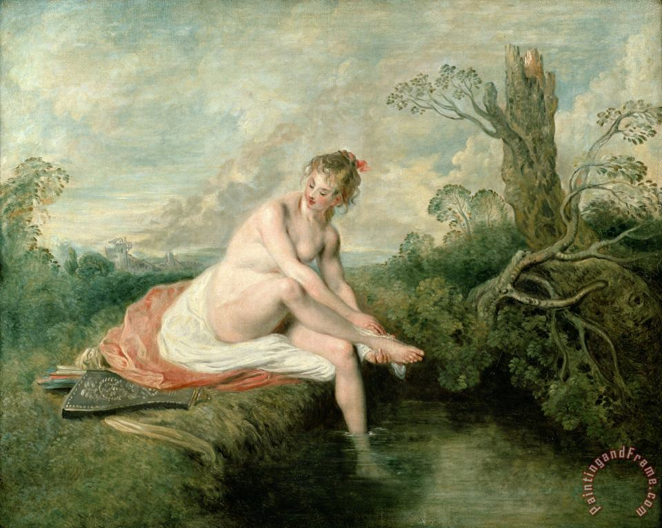 The Bath of Diana painting - Jean Antoine Watteau The Bath of Diana Art Print