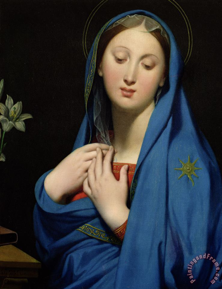 Jean Auguste Dominique Ingres Virgin Of The Adoption Art Painting