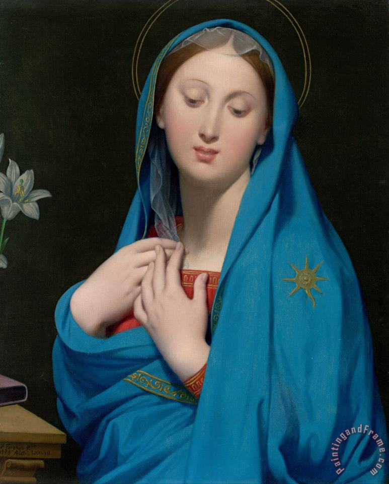 Jean Auguste Dominique Ingres Virgin of The Adoption Art Print