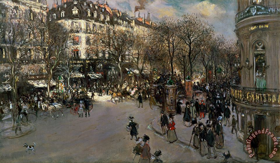 The Boulevard des Italiens painting - Jean Francois Raffaelli The Boulevard des Italiens Art Print