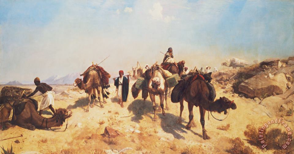 Jean Leon Gerome Crossing the Desert Art Print