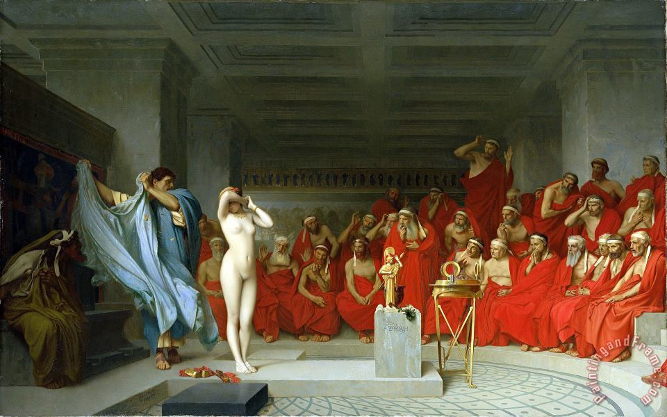 Phryne Before The Areopagus painting - Jean Leon Gerome Phryne Before The Areopagus Art Print