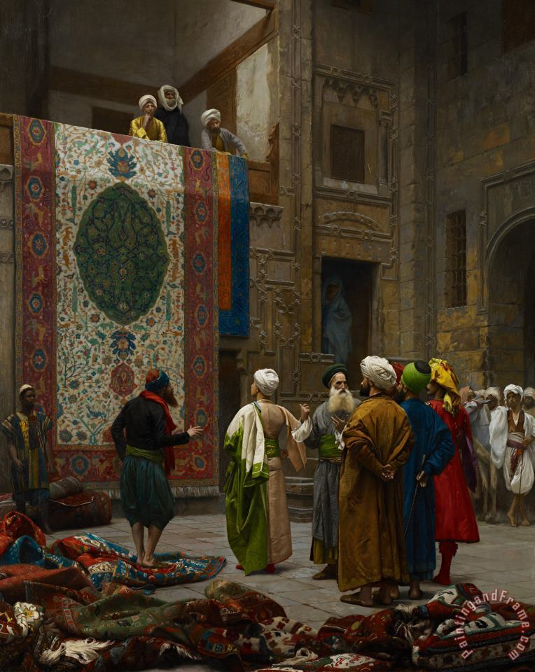 Jean Leon Gerome The Carpet Merchant Art Painting