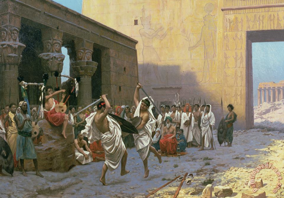 Jean Leon Gerome The Sword Dance Art Print