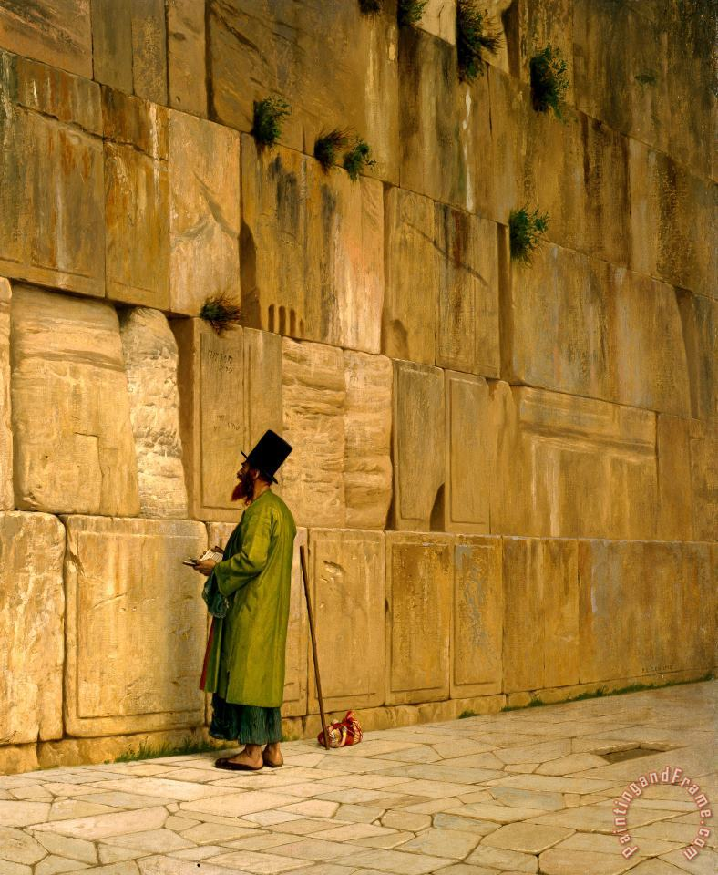 The Wailing Wall painting - Jean Leon Gerome The Wailing Wall Art Print