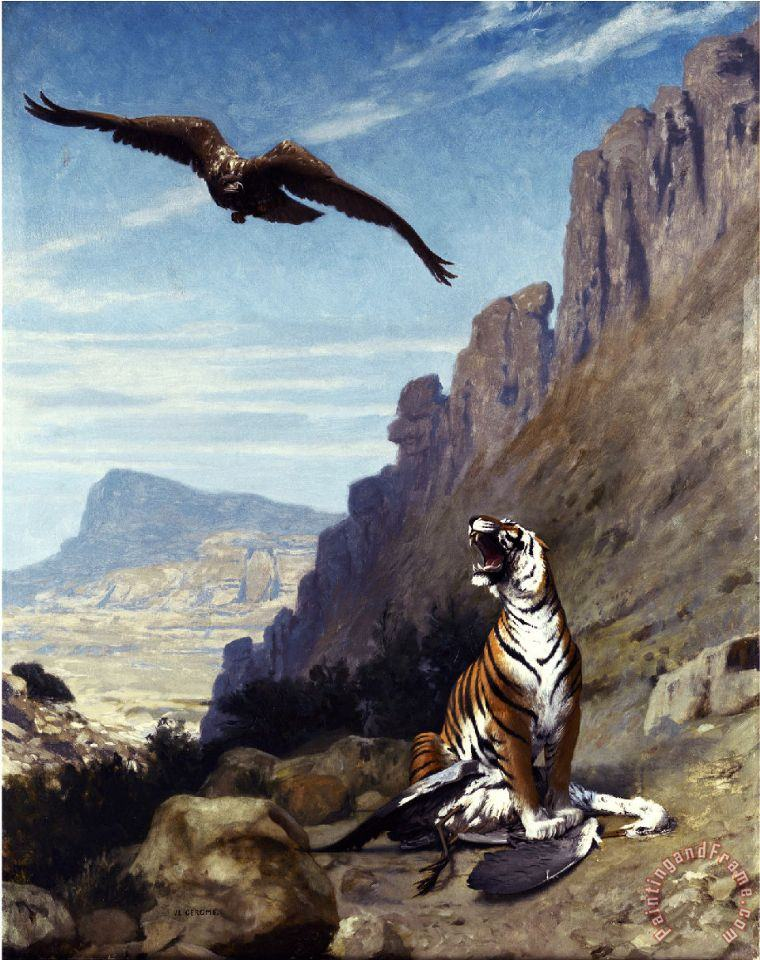 Tiger And Vulture painting - Jean Leon Gerome Tiger And Vulture Art Print
